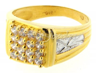 22 Kt Gold Mens Signity Ring ( Mens Signity Rings )