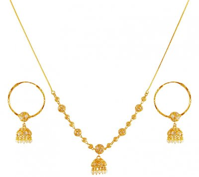 22 Karat Gold Pearl Dokia Set ( Light Sets )