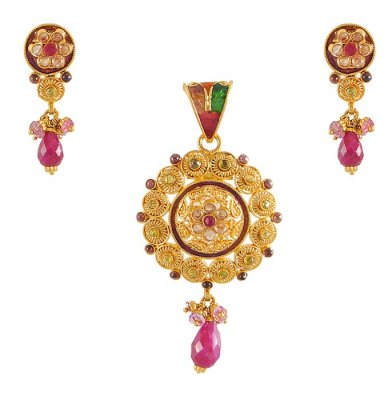 Gold Pendant Set ( Antique Pendant Sets )