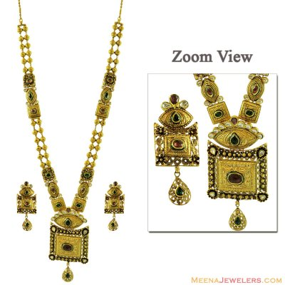 Indian Kundan Necklace Set 22K ( Bridal Necklace Sets )