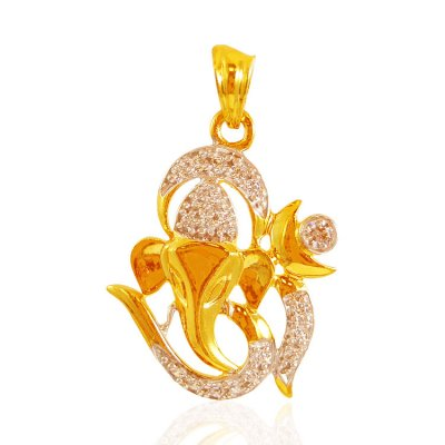 22KT Gold Om Vinayak Pendant ( Ganesh, Laxmi and other God Pendants )