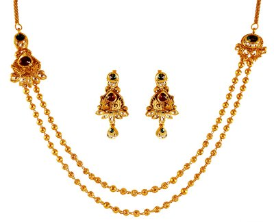 22K Gold Layered Antique Set ( Antique Necklace Sets )