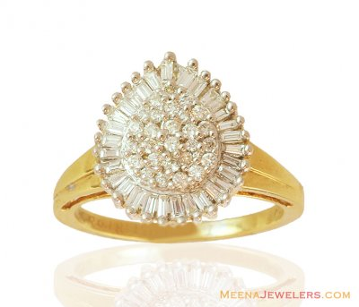Designer Diamond Ring 18K ( Diamond Rings )