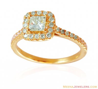 18 K Gold Solitaire Ring ( Diamond Rings )