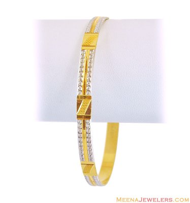 22Kt Gold 2 Tone Bangle (1 Pc) ( Two Tone Bangles )