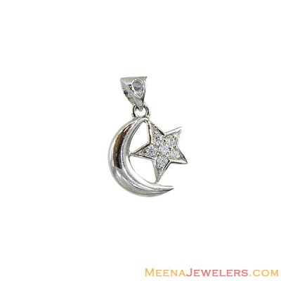 18k Star Crescent Pendant  ( Allah, Ali and Ayat Pendants )