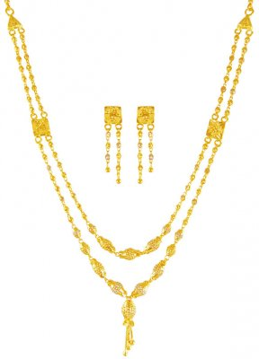 22KT Gold Layered Necklace Set ( Light Sets )