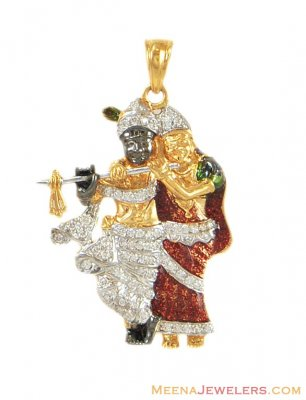 22k Gold Radha Krishna Pendant ( Ganesh, Laxmi and other God Pendants )