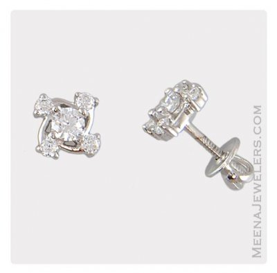 18Kt White Gold Earrings ( White Gold Earrings )
