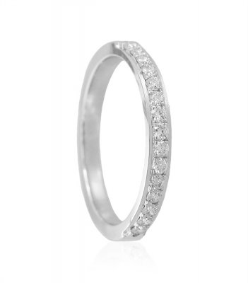 White Gold 18K Diamond Band ( Diamond Rings )