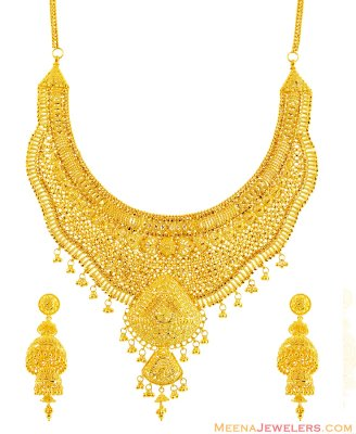 Exclusive Filigree Necklace (No Earrings) ( Bridal Necklace Sets )