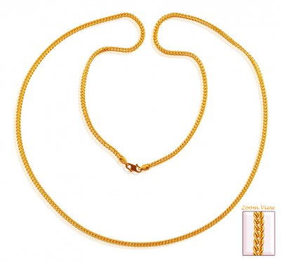 Gold Chain 22K (24 Inch) ( Plain Gold Chains )