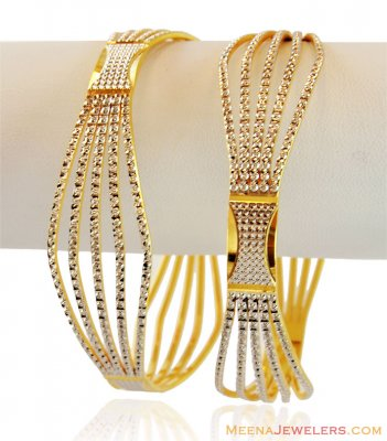 Gold Two Tone Bangles  ( Two Tone Bangles )