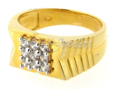 Mens Signity Ring (22 Kt Gold) ( Mens Signity Rings )