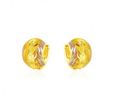 22k Gold ClipOn Earrings ( Clip On Earrings )