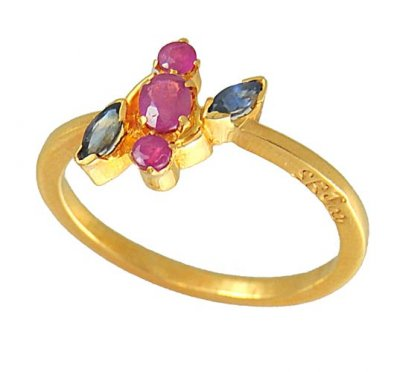 Gold Precious Stone Ring ( Ladies Rings with Precious Stones )