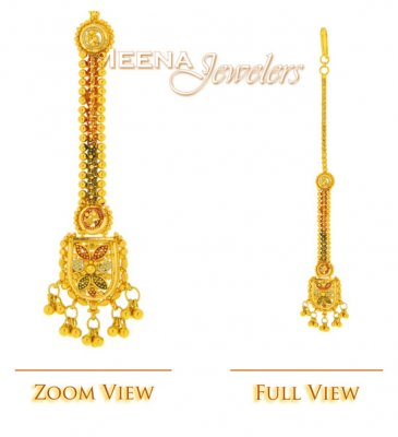 22K Gold Tikka (3 Tone Filiggree Work) ( Gold Tikka )
