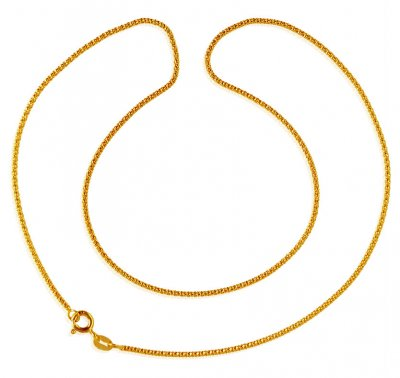 22K Gold Plain Chain ( Plain Gold Chains )