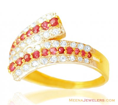 22K Beautiful Ruby Ring ( Ladies Rings with Precious Stones )
