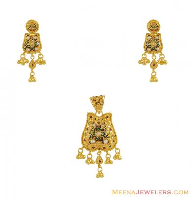 22Kt Gold Pendant Set ( Gold Pendant Sets )