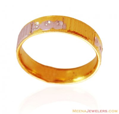 Two Tone 22K Gold Band ( Wedding Bands )
