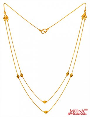 22Kt Gold Meenakari Layered Chain ( 22Kt Gold Fancy Chains )