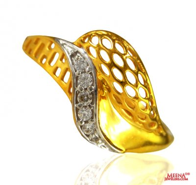 22k Gold Designer Ladies Ring   ( Ladies Signity Rings )