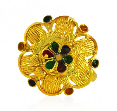 22kt Gold Traditional Ring ( Ladies Gold Ring )