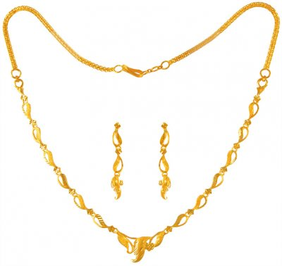 22K Gold Necklace Set ( Light Sets )
