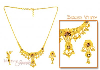 Designer Gold Necklace Set ( 22 Kt Gold Sets )