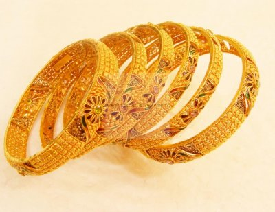 22K Exclusive Bangles (8Pcs Custom) ( Set of Bangles )