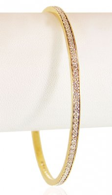 18Karat Gold Diamond Bangle 1 pc ( Diamond Bangles )