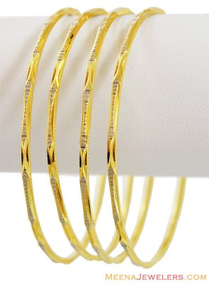 22Kt Gold Two Tone Bangles ( Two Tone Bangles )