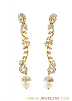 Fancy Pearl Drop Hanging Earrings