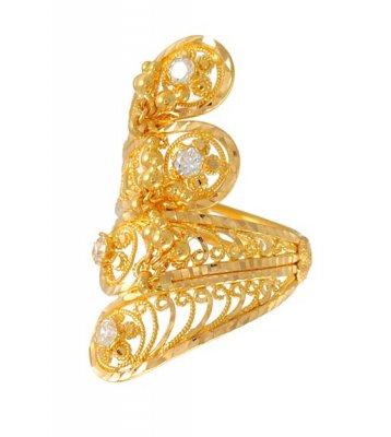 Gold Indian Bridal Ring Rilg4674 Us 462 22kt Gold Indian