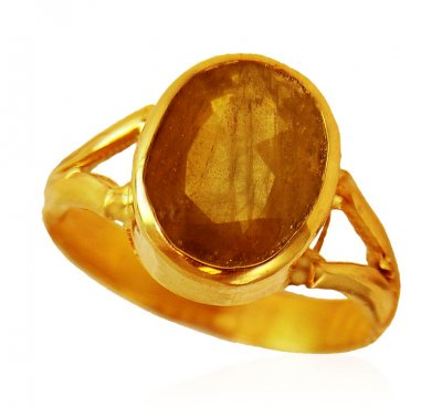 22kt Gold Yellow Sapphire Ring ( Astrological BirthStone Rings )
