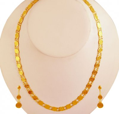 22K Necklace Earring Set ( Light Sets )
