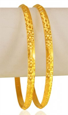 22Karat Gold Machine Bangle (2 Pcs) ( Gold Bangles )