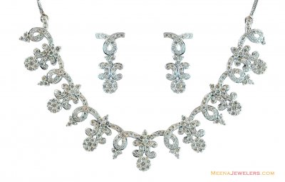 White Gold Necklace Set ( Diamond Necklace Sets )