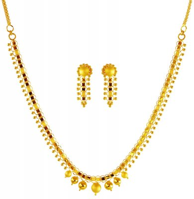 22Kt Gold Necklace Set ( Light Sets )