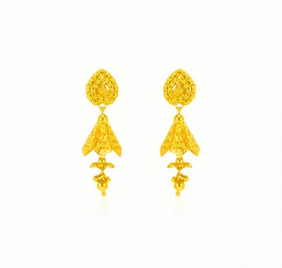 22 kt Fancy Chandelier Earrings ( 22Kt Gold Fancy Earrings )