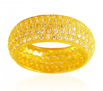 22Kt Gold CZ Band ( Ladies Signity Rings )