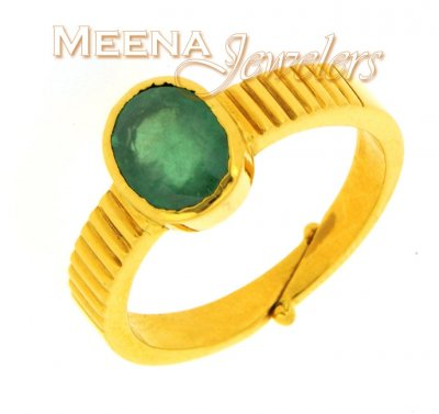 22kt Gold Birthstone Ring with Emerald ( Astrological BirthStone Rings )