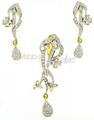 Genuine Diamond Pendant Set ( Diamond Pendant Sets )