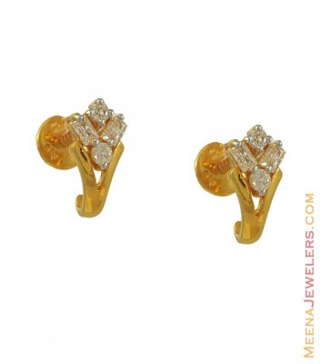 22k Earring With Signity ( Signity Earrings )