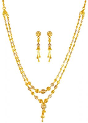 22kt Gold Double Layered  Set ( Light Sets )