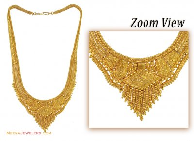 22K Necklace Without Earrings ( Bridal Necklace Sets )