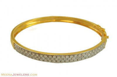 Gold Exclusive Bangle (22 Kt Gold) ( Stone Bangles )