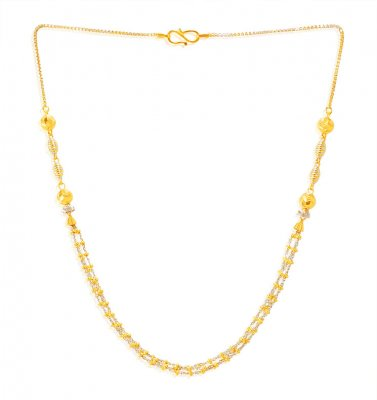 22KT Gold Layer Necklace Chain ( 22Kt Gold Fancy Chains )