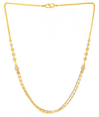 22KT Gold Fancy Layered Chain ( 22Kt Gold Fancy Chains )